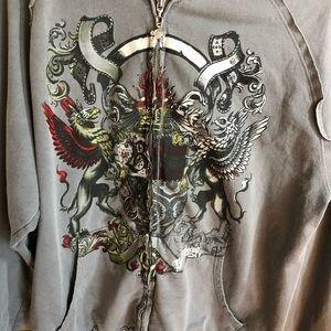 Billabong Hooded Zipper Sweatshirt Griffin Crest